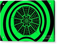 Window To Another World In Green - Black Acrylic Print by Az Jackson