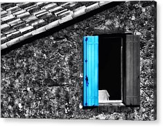 Windows Of St Jean De Luz In France Acrylic Print by Mountain Dreams