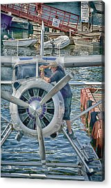 Windshield Wiper Acrylic Print by Trever Miller