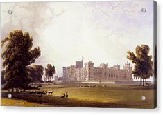 Windsor Castle From The South End Acrylic Print by William Daniell