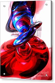 Windstorm Abstract Acrylic Print by Alexander Butler