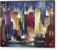 Windy City Nights Acrylic Print by Kathleen Patrick