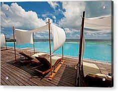 Windy Day At Maldives Acrylic Print by Jenny Rainbow