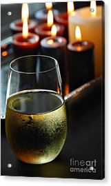 Wine And Candles Acrylic Print by HD Connelly