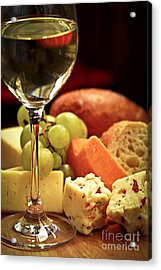 Wine And Cheese Acrylic Print by Elena Elisseeva