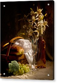 Wine And Romance Acrylic Print by Tom Mc Nemar