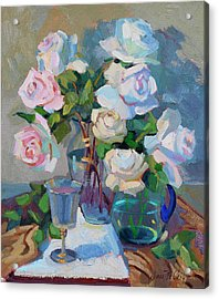 Wine And Roses Acrylic Print by Diane McClary