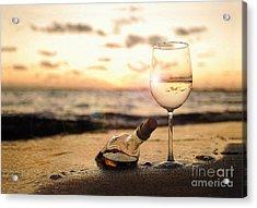Wine And Sunset Acrylic Print by Jon Neidert