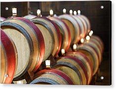 Wine Barrels Acrylic Print by Francesco Emanuele Carucci