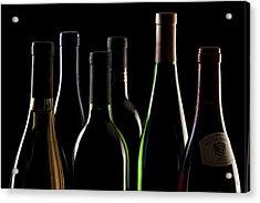 Wine Bottles Acrylic Print by Tom Mc Nemar