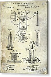 1890 Wine Bottling Machine Acrylic Print by Jon Neidert