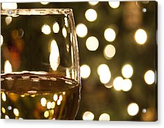 Wine By The Lights Acrylic Print by Andrew Soundarajan