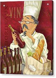 Wine Chef Iv Acrylic Print by Shari Warren