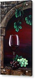 Red Wine Sunset Acrylic Print by Dani Abbott