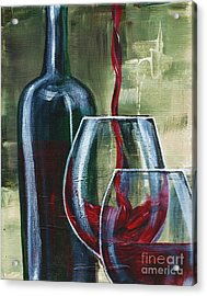Wine For Two Acrylic Print by Lisa Owen-Lynch