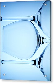 Wine Glasses 4 Acrylic Print by Rebecca Cozart