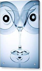 Wine Glasses 9 Acrylic Print by Rebecca Cozart