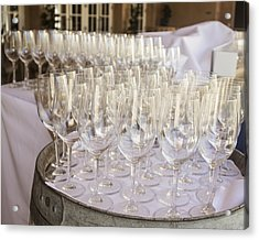 Wine Glasses Acrylic Print by Dee  Savage