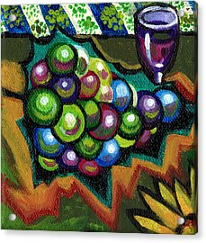 Wine Grapes Acrylic Print by Genevieve Esson