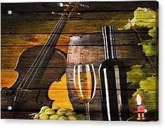 Wine Acrylic Print by Joe Hamilton