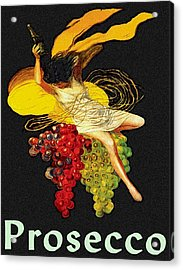 Wine Maid Prosecco Poster Acrylic Print by Jerry Schwehm