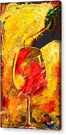 Wine Acrylic Print by Marcello Cicchini