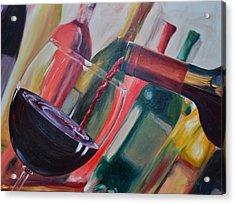 Wine Pour IIi Acrylic Print by Donna Tuten