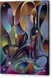 Wine Spirits Acrylic Print by Ricardo Chavez-Mendez