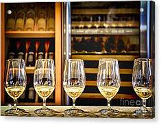 Wine Tasting  Acrylic Print by Elena Elisseeva