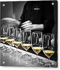 Wine Tasting Glasses Acrylic Print by Elena Elisseeva