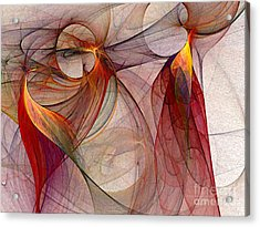 Winged-abstract Art Acrylic Print by Karin Kuhlmann