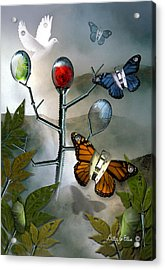 Winged Metamorphose Acrylic Print by Billie Jo Ellis