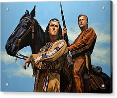 Winnetou And Old Shatterhand Acrylic Print by Paul Meijering