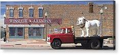 Winslow Arizona Acrylic Print by Mike McGlothlen