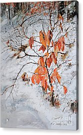 Winter Ash Acrylic Print by P Anthony Visco