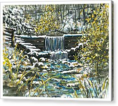 Winter At Iargo Springs Acrylic Print by Robin  Pelton