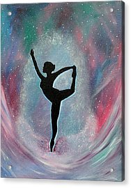 Winter Ballet Dancer Acrylic Print by Vicki Kennedy