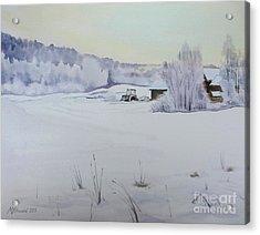 Winter Blanket Acrylic Print by Martin Howard