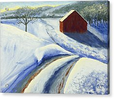 Winter Blues Acrylic Print by Garry McMichael