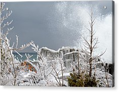 Winter By Shore Acrylic Print by Hella Buchheim