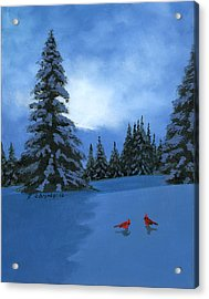 Winter Christmas Card 2012 Acrylic Print by Cecilia Brendel