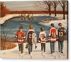 Winter Classic - 2010 Acrylic Print by Ron  Genest
