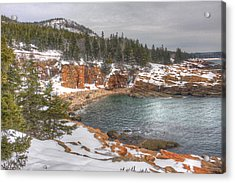 Winter Cove Acrylic Print by Robert Saccomanno