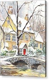 Winter Enraptured Acrylic Print by Carol Wisniewski
