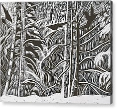 Winter Etching Acrylic Print by Grace Keown