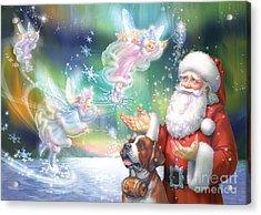 Winter Fairies Acrylic Print by Zorina Baldescu