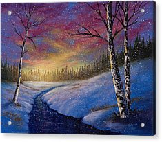 Winter Flurries Acrylic Print by C Steele