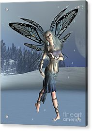 Winter Frost Fairy Acrylic Print by Fairy Fantasies