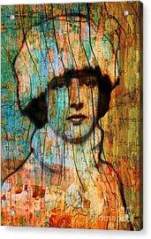 Winter Girl Variation 1 Acrylic Print by Judy Wood