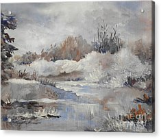 Winter Impressions Acrylic Print by Suzanne Schaefer